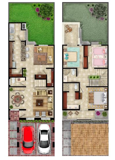 Foto de casas en venta en León, Mayorazgo Santa Elena, Modelo Asturias, distribución.